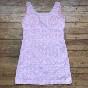 1960/70s Vintage Pink Floral A-Line Mini Dress